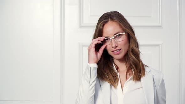 Thumbnail for Businesswoman in White Glasses
