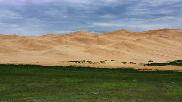 Thumbnail for Aerial View of Sand Dunes in Gobi Desert Mongolia