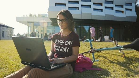Girl Studies Near University