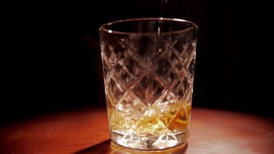 Glass Of Whisky Slow Motion