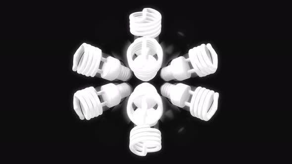 Rotating fluorescent bulbs