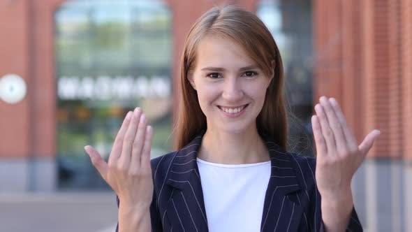 Thumbnail for Inviting Gesture by Young Businesswoman