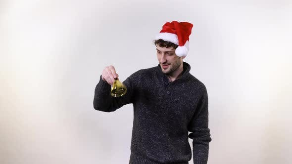 Thumbnail for Man ringing a Christmas bell