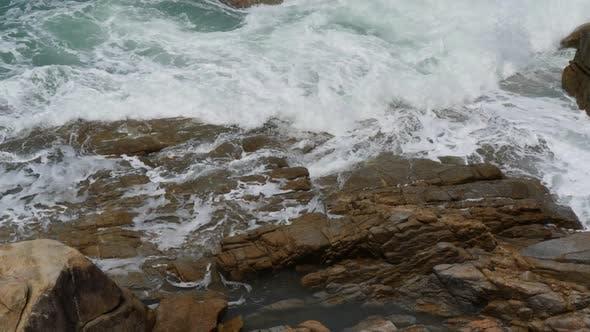 Thumbnail for Marine Storm Waves on Sea Rocks