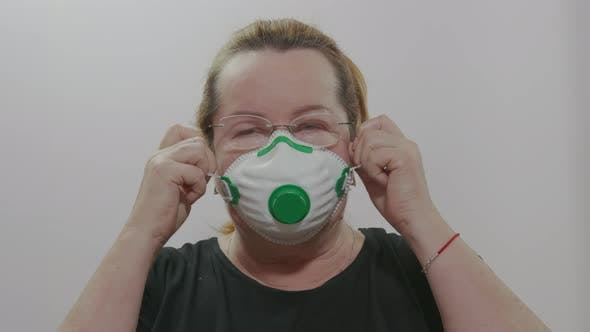 Woman in Medical Mask. Epidemic Control of Coronavirus and Proper Infection Prevention.