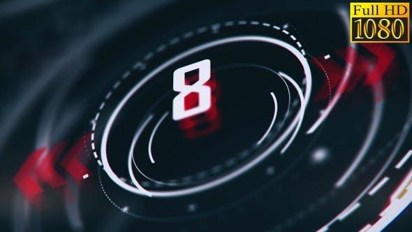 Countdown Timer Background Vj Loops V3