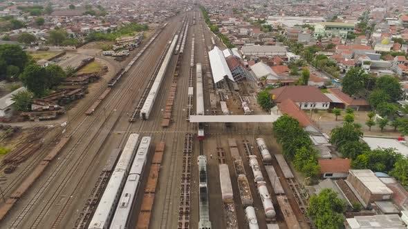 Railway Station in Surabaya Indonesia