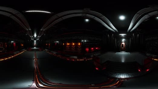 Thumbnail for VR360 Futuristic Dark Data Center with Metal and Lights
