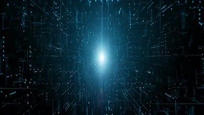 Digital Data Matrix Flowing 01095