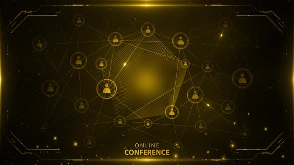 Online Conference Background Yellow 4k Loop