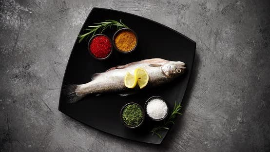 Thumbnail for Plate with Fish and Spices