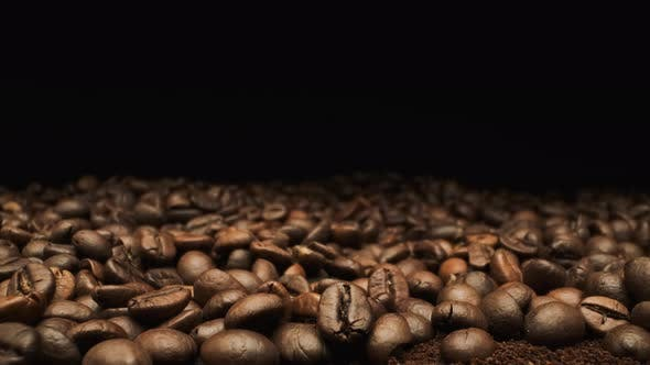 Beautiful View Of Coffee Beans