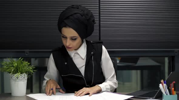 Thumbnail for Muslim Woman in Office