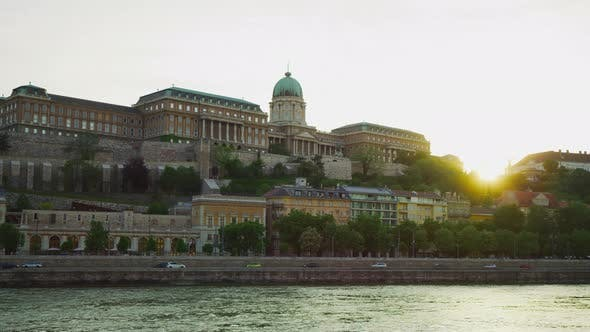 Buda Castle in the evening