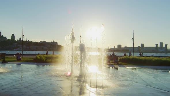Fontaine Du Quai Paquet on a sunny day
