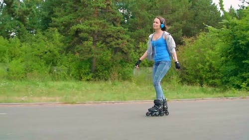 Roller Skating to Music