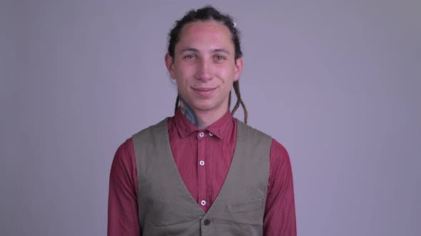 Thumbnail for Happy Young Businessman with Dreadlocks Smiling