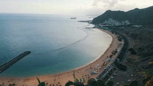 Teresitas Beach Playa De Las Teresitas Time Lapse Aerial View