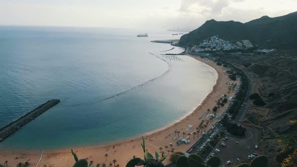 Thumbnail for Teresitas Beach Playa De Las Teresitas Time Lapse Aerial View