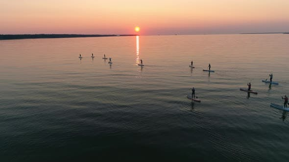 Thumbnail for Sunset Surfing Session Aerial View