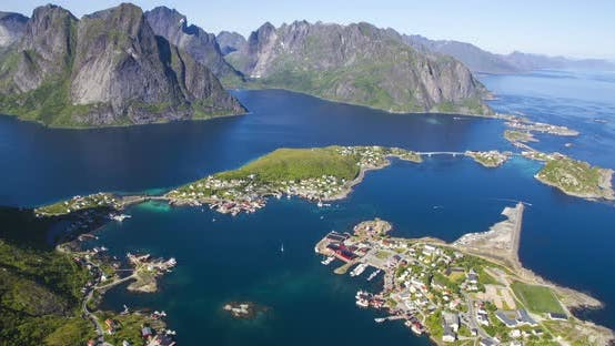 Thumbnail for A fisherman village at Lofoten island timelapse, Norway