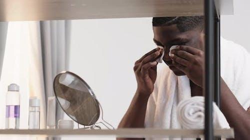 Facial Care Metrosexual Black Man Moisturizing