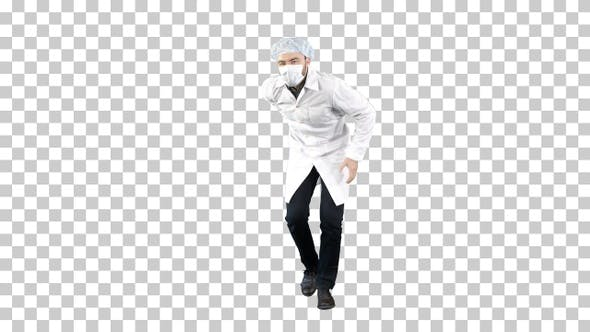 Thumbnail for Doctor Wearing His Uniform and Wearing, Alpha Channel