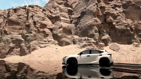Thumbnail for Car Water Reflection In Canyon