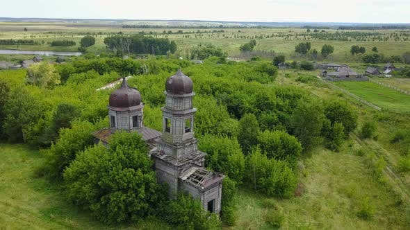 Thumbnail for Abandoned Wooden Church in Countryside