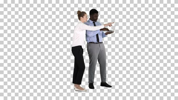 Thumbnail for Afro American Business Adviser Showing Something on Laptop Screen