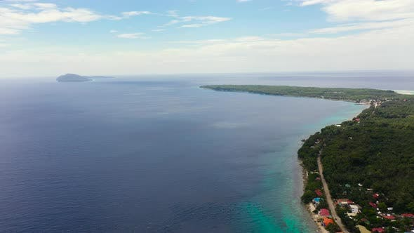 Thumbnail for Seascape with Islands, Aerial View. Sogod Bay, Leyte Island, Philippines.