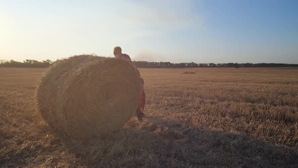 Strong Superheroes Rolling Huge Straw Stack