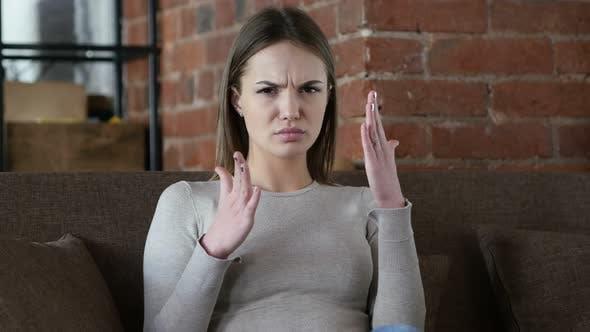Thumbnail for Female Designer Gesturing Frustration and Anger, Upset
