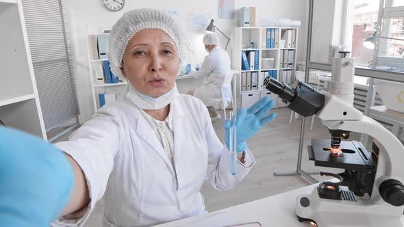 Thumbnail for Female Doctor Filming Vlog