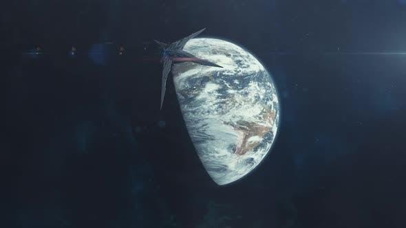 Thumbnail for Massive Alien Spaceship Engulfing Earth