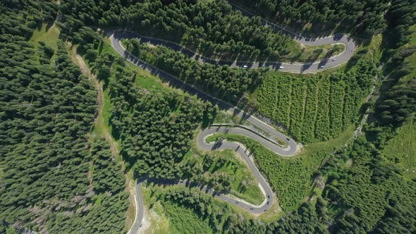 Aerial View Of Famous Romanian Mountain Road Transalpina 19