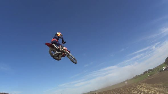 Thumbnail for Men racing in a motocross motor sports race.