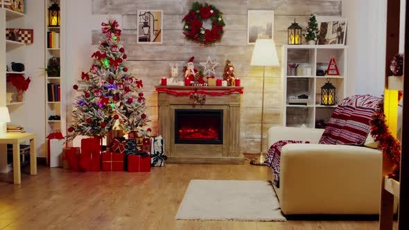 Thumbnail for A Beautiful Living Room Decorated for Christmas Celebration