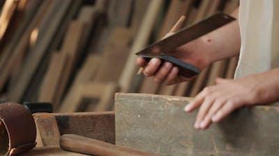 Ruler measure wood