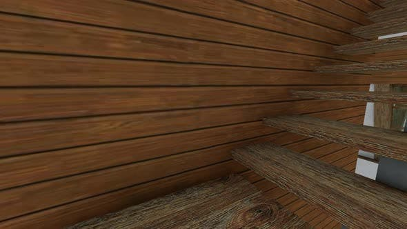 Thumbnail for Old wooden staircase