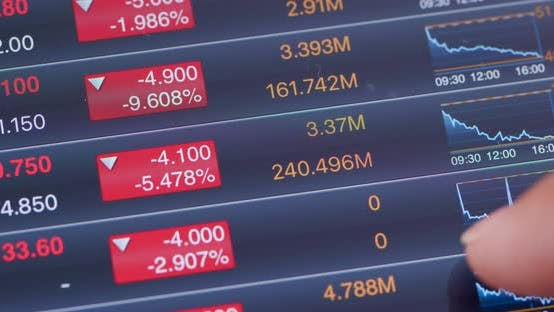 Thumbnail for Digital tablet with stock market data
