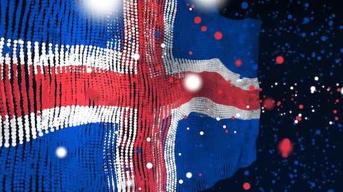 Icelandic Flag Particle Animation