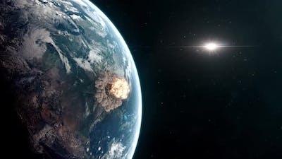 Extinction Level Event - Asteroid Impact Causing Apocalyptic Destruction
