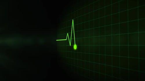 Digital EKG Pulse Copy Space