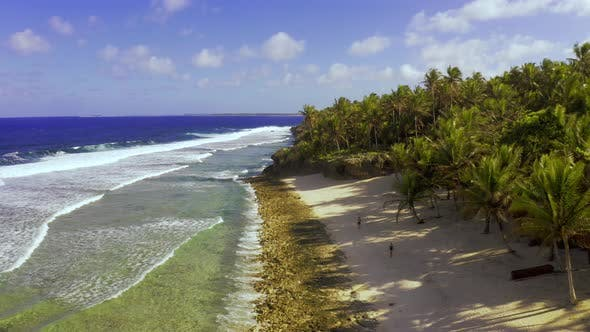Thumbnail for Aerial View Tropical Beach Island and Sea Bay Lagoon, Siargao. Tropical Landscape Hills