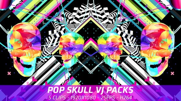 Cover Image for Pop Skull VJ Packs 5 in 1