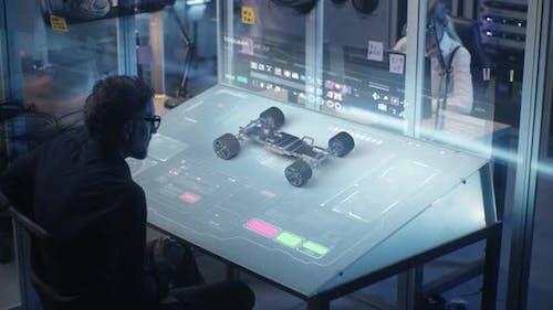 Professional Engineer Developing Modern Car Design