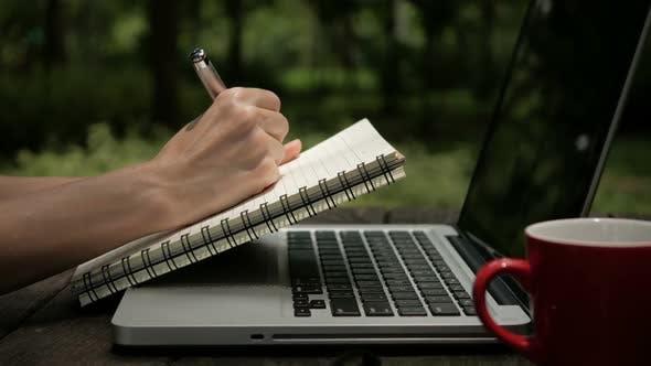Thumbnail for Writing Diary At Park