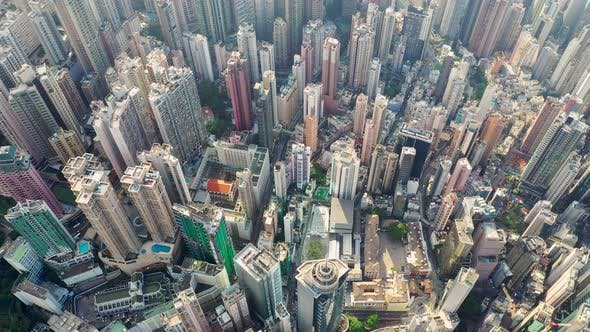 Thumbnail for Top view of Hong Kong city