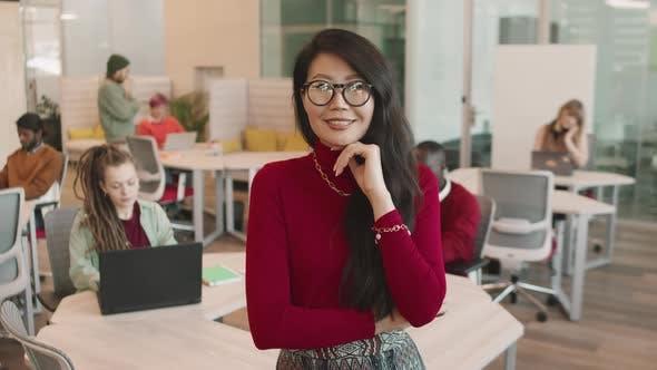 Young Asian Businesswoman Posing